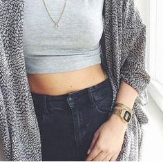 autumn, black, black and white, cardigan, clothes, clothing, fall, fashion, girl, grey, hair, hipster, indie, monochrome, necklace, ootd, outfit, shorts, spring, summer, sweater, teen, teenager, tumblr, vogue, watch, white, black&white, ootw
