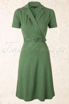 King Louie - Polo Cross Glimmer Dress in Green