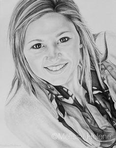 Gabby | Melissa Helene Fine Arts + Photography 8x10 graphite portrait www.melissahelene.com #portrait #graphite #artwork #art #graphite #memorial #blackandwhite