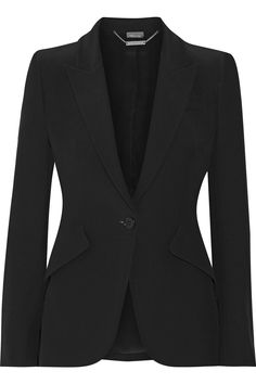 ALEXANDER MCQUEEN Grain de poudre crepe blazer  $1,995.00 https://www.net-a-porter.com/product/809515