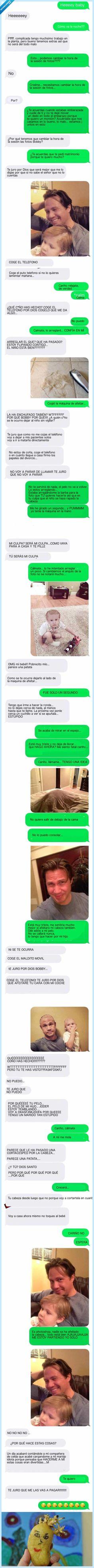 Envía a su mujer fotos de un accidente ocurrido en casa por WhatsApp, y ella le quiere matar; es lo que pasa cuando te casas por amor con un gili***las   Vayaface
