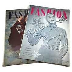 Lot of 2 Vintage Canadian Fashion Magazines Back Issues 1947-1948