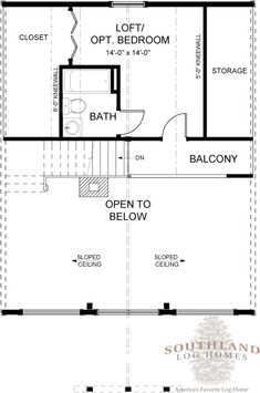 """""""The Carson: Log Cabin Kit - Plans & Information"""" is one of the many log cabin home plans from Southland Log Homes. You can customize the Carson: Log Cabin Kit - Plans & Information to meet your exact needs with our free design tools."""