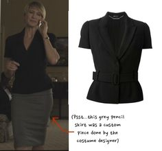 claire-underwood-house-of-cards-hoc-season-3-black-belted-blouse-top-grey-pencil-shirt-chapter-28
