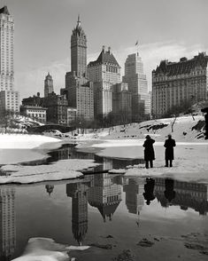 «Winter in Central Park by 1939 by Samuel H Gottscho