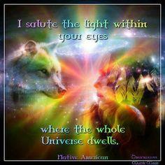 I salute the light wthin your eyes where...