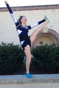 cheer comp...I think it is call a toe/heal touch....York pa