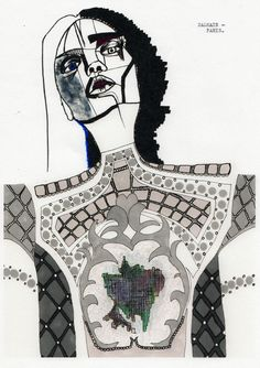 Fashion Illustration Design Our first year fashion design students are taught by illustrator Richard Gray. These are a selection of first year students fashion illustration work, depicting this seasons runway collections. Textiles Sketchbook, Fashion Sketchbook, Fashion Portfolio Layout, Fashion Design Sketches, Fashion Illustration Collage, Illustration Art, Tinta China, Illustrations And Posters, Design Illustrations