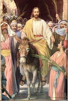 The Catholic Defender: Jesus Triumphant Entry Into Jerusalem Palm Sunday Images Du Christ, Images Bible, Pictures Of Jesus Christ, Religious Pictures, Bible Pictures, Religious Art, Jesus Our Savior, Jesus Art, Jesus Is Lord
