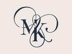Wedding Logo Design, Wedding Logos, Initials Logo, Monogram Logo, Lettering Styles, Lettering Design, M Letter Design, Monogram Wallpaper, Schrift Tattoos