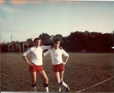 """Here we are kicking football in Tampa, Florida USA . I am on left side . This was on the boat """"Norbeth"""""""