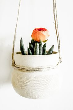Etched Hanging Planter