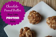 Chocolate-Peanut Butter Rice Cake Protein Balls @carrotsncake