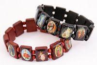 I can't get enough wooden saint bracelets.