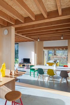 plywood ceiling ideas painted plywood ceiling ideas - The world's most private search engine Home Interior, Interior Architecture, Airstream Interior, Casa Loft, Wood Interiors, Side Chairs, Interior Inspiration, Home Furniture, Plywood Furniture