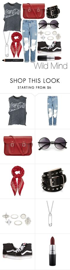 """""""Wild Mind"""" by leonorgomes on Polyvore featuring Chaser, Topshop, The Cambridge Satchel Company, ZeroUV, Yves Saint Laurent, Barbara Bui, Charlotte Russe, True Rocks, Vans and MAC Cosmetics"""