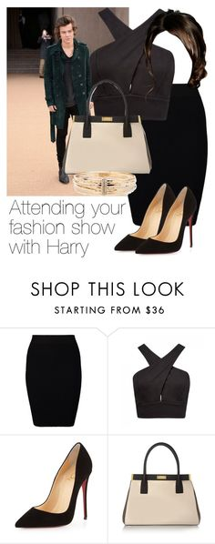 """""""REQUESTED: Attending your fashion show with Harry"""" by style-with-one-direction ❤ liked on Polyvore featuring Just Female, Forever New, Christian Louboutin, Marni, OneDirection, harrystyles, 1d and harry styles one direction 1d"""