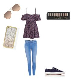 """Untitled #16"" by emmashenefield04 on Polyvore featuring H&M, Paige Denim, Forever 21, Ray-Ban, Superga and Skinnydip"