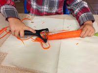 The Natural Homeschool: Montessori Practical Life: Peeling a Carrot