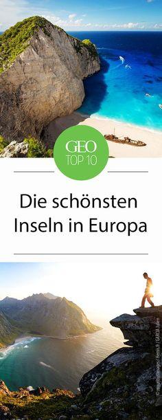 Europas schönste Inseln - von Norwegen über Schottland und England bis nach Griechenland.