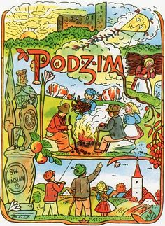 Had not heard of Czech artist, Joseph Lada, until I came across some of his illustrations (like tiny book pages) in a small shop in Prague. Bloom Book, Xmas Cards, Czech Republic, Vintage Images, Illustrators, Folk Art, Fairy Tales, Artist Names, Artsy