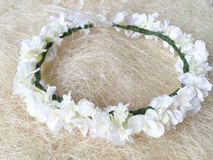 Wedding Hair White Flower Wreath Flower by StaroFlowerCrowns