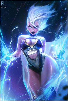 Ross Tran& heroines geeks - Chris Evans may not be finished with Captain America yet Ms Marvel, Marvel Comics, Storm Marvel, Marvel Girls, Marvel Heroes, Storm Xmen, Rogue Comics, Comic Book Characters, Comic Character