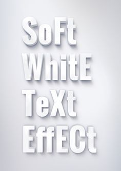 GraphicBurger » Soft White Text Effect (Layered PSD)