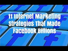 11 internet marketing strategies that made Facebook billions. Go to http://ift.tt/2jdCsFV for video notes related content and helpful resources mentioned.  Let's Connect! Twitter - https://twitter.com/MrJustinBryant  Facebook -  http://ift.tt/1LQomnx  Google - http://ift.tt/1PaQTrN  In this video you will learn about 11 internet marketing strategies that made Facebook billions of dollars as well as a publicly traded company. When it comes to marketing and innovation Facebook is on a whole…