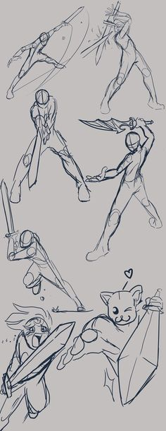 had some free time so did a quick study on dynamic poses in swordplay.