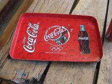 Vintage Tin Tray Coca Cola Worldwide Olympic Partner
