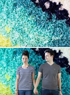 DIY Ombre Tissue Paper Photo Booth
