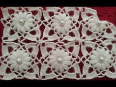 YouTube Crochet Doilies, Crochet Motif, Crochet Baby, Crochet Square Patterns, Crochet Blouse, Crochet Stitches Patterns, Easy Crochet, Crochet Squares, Crochet Flowers
