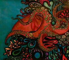 Octopus Tentacles Drawing | King Octopus Drawing by Keyla Rodriguez - King Octopus Fine Art Prints ...