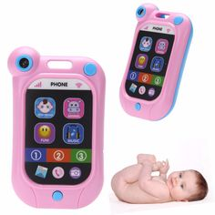 Baby Kids Smart Phone Toy , Learning Study Music Sound Mobile touch screen Educational phone Toys , Baby Stop Crying Artifact