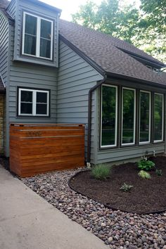 Look at what Lucas built! It makes me happy every time I pull into the drive. This cedar plank screen wall was my Mother's Day present and it was a lot of fun designing it together. It is a …