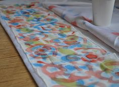 Art with Kids: Hand Painted Scarves