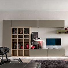 Elegant, ultramodern 'Lourdes' TV unit. Beautiful, high quality of the wood, My Italian Living.