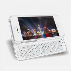 Slide-out Ultra Thin Backlight Bluetooth Keyboard Case Cover For iPhone 5 5S