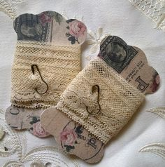 .Lace storage...or gift idea