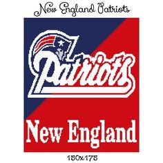 New England Patriots Crochet Afghan Pattern Free : New England Patriots Crochet Pattern Afghan Graph, USD3.5 ...
