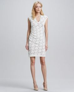 Formfitting Lace Dress by Rebecca Taylor at Neiman Marcus.