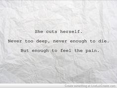 She Cuts Herself