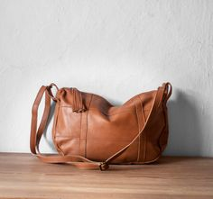 Leather Crossbody Bag in Caramel by morelle