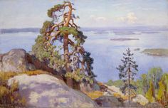 Eero Järnefelt: Landscape from Koli image: Finnish National Gallery/Antti Kuivalainen Helene Schjerfbeck, Landscape Art, Landscape Paintings, Landscapes, National Gallery, Scandinavian Art, Romanticism, Helsinki, Oil On Canvas