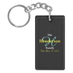 #initial - #Personalized Family Established - Name & Initial - Keychain