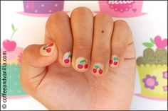 Summer Kid's Nail Art - Cherry Fingers & Watermelon Toes » Coffee and Vanilla