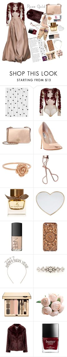 """""""Rose Gold🌹✨"""" by bartivana ❤ liked on Polyvore featuring Camp, Amen, Tory Burch, Dune, Charlotte Tilbury, Burberry, Kylie Cosmetics, Gucci, NARS Cosmetics and Felony Case"""