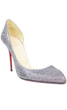 Christian Louboutin Silver Pump shoe l Vaunte