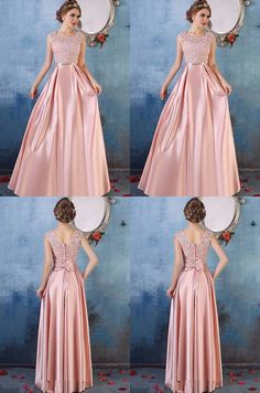 Pink Prom Dresses Long, 2018 Formal Dresses Aline, Scoop Neck Party Dresses Satin Tulle, Lace Evening Dresses Cheap Modest inch ( height is from your top head to your Prom Dresses Long Pink, Cheap Evening Dresses, Cheap Dresses, Evening Gowns, Bridesmaid Dresses, Strapless Dress Formal, Hijab Prom Dress, Dresses Dresses, Event Dresses